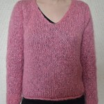 photo tricot modele tricot pull col v femme 5