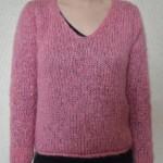 photo tricot modele tricot pull col v femme 5