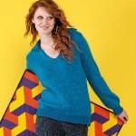 photo tricot modele tricot pull col v femme 6