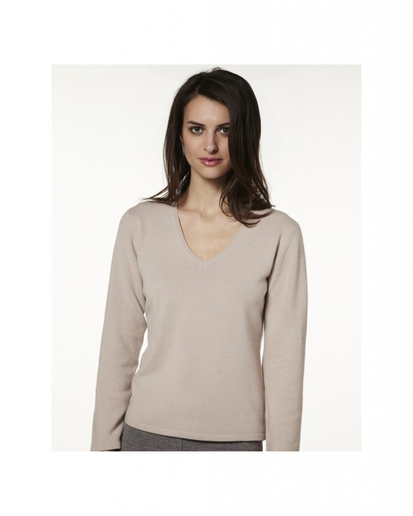 photo tricot modele tricot pull col v femme 7