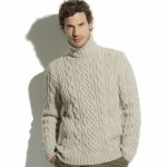 photo tricot modele tricot pull homme torsade 11