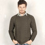 photo tricot modele tricot pull homme torsade 4