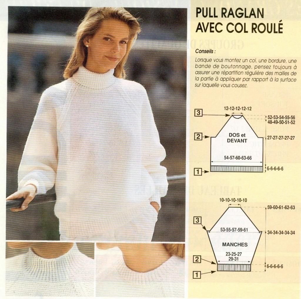 photo tricot modele tricot pull raglan femme