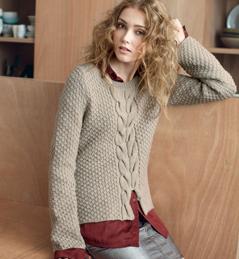 photo tricot modele tricot pull raglan femme 11