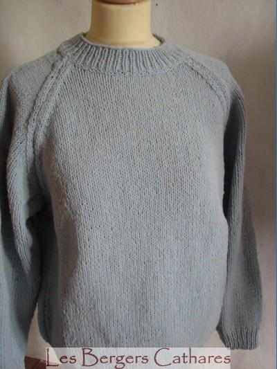 photo tricot modele tricot pull raglan femme 12
