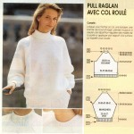 photo tricot modele tricot pull raglan femme