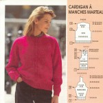 photo tricot modele tricot pull raglan femme 6