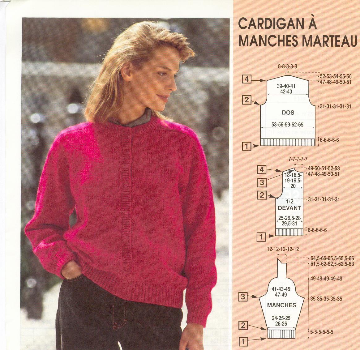 photo tricot modele tricot pull raglan femme 6