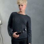 photo tricot modele tricot pull raglan femme 7