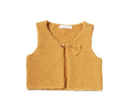 photo tricot modele tricot pull sans manche bebe 16