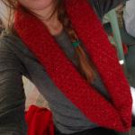 photo tricot modele tricot snood long 3
