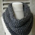 photo tricot modele tricot snood long 4