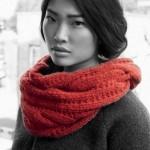 photo tricot modele tricot snood long 5