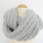 photo tricot modele tricot snood long 8