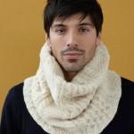 photo tricot modele tricot snood long 9