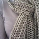 photo tricot modele tricoter echarpe 2