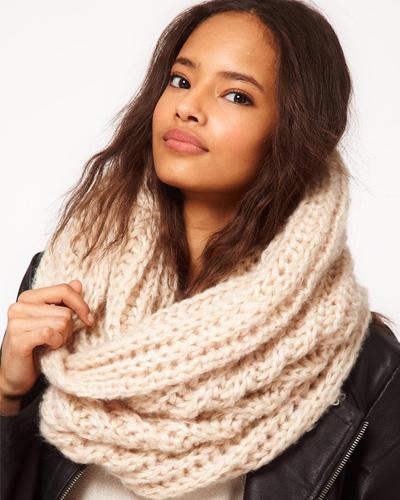 photo tricot modele tricoter echarpe tube 10