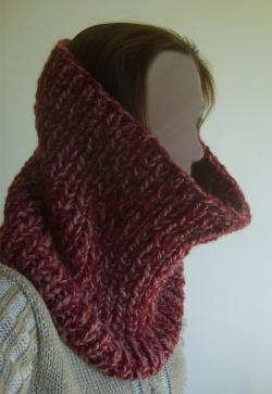 photo tricot modele tricoter echarpe tube 14