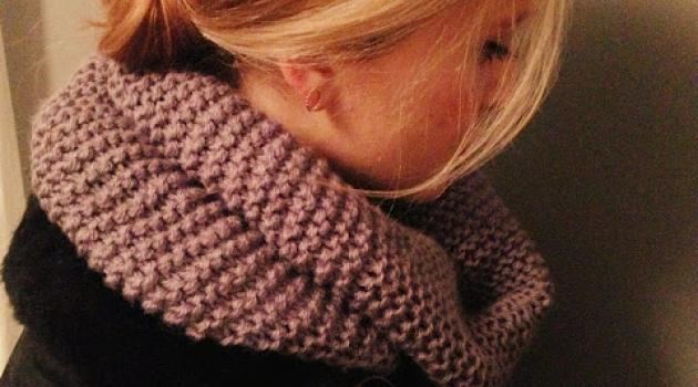 photo tricot modele tricoter echarpe tube 16