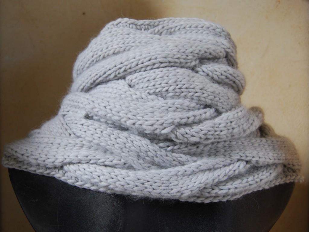 photo tricot modele tricoter echarpe tube 2