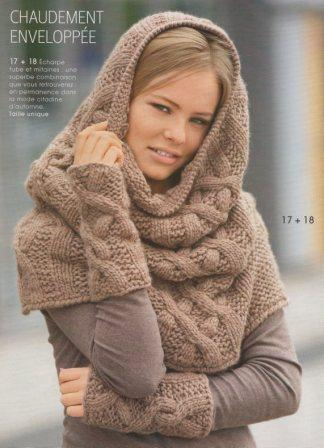 photo tricot modele tricoter echarpe tube 4