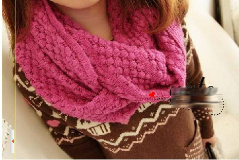 tricoter une echarpe tube