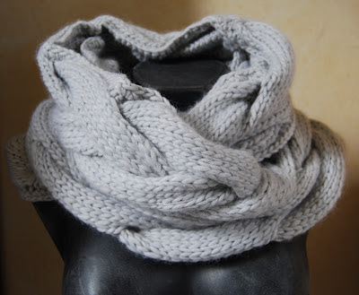 photo tricot modele tricoter echarpe tube 8