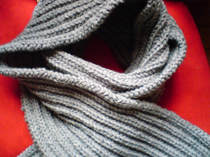 photo tricot modele tricoter facile une écharpe 11