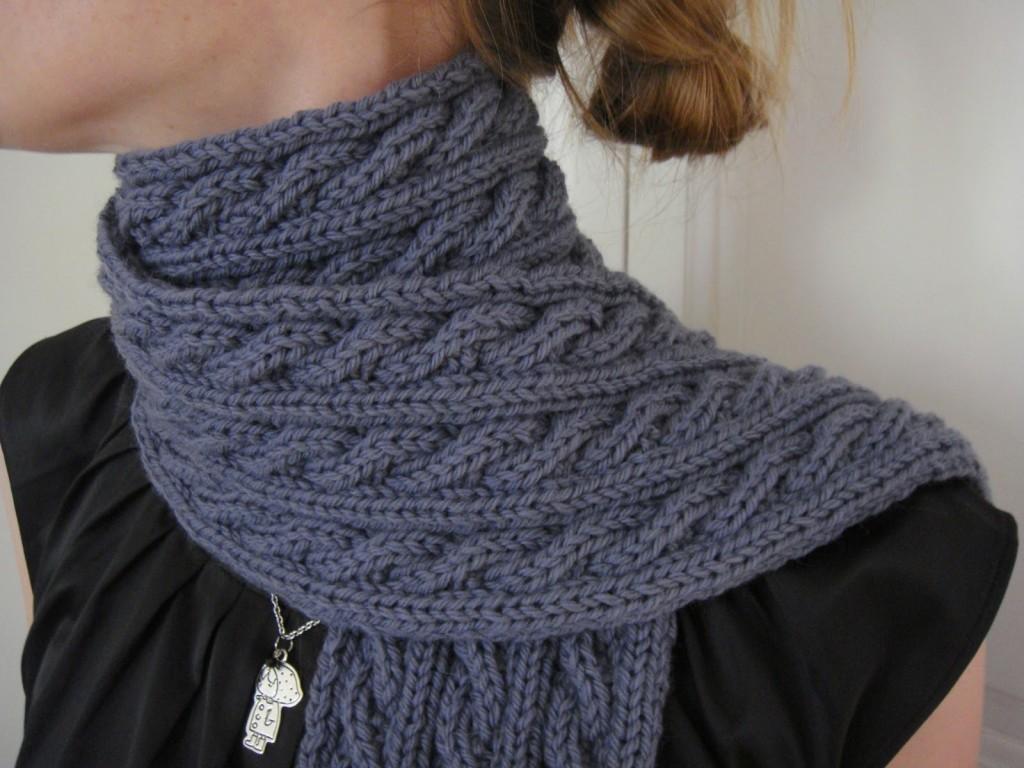photo tricot modele tricoter facile une écharpe 2