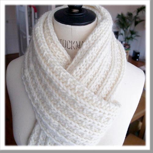 photo tricot modele tricoter facile une écharpe
