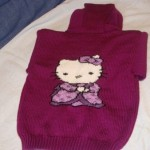 photo tricot modele tricoter pull hello kitty 13