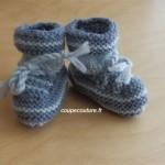 photo tricot patron chausson bébé tricot gratuit 10