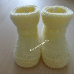 photo tricot patron chausson bébé tricot gratuit 14