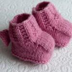 photo tricot patron chausson bébé tricot gratuit 15