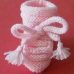 photo tricot patron chausson bébé tricot gratuit 16