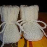 photo tricot patron chausson bébé tricot gratuit 18