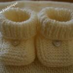 photo tricot patron chausson bébé tricot gratuit 2