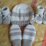 photo tricot patron chausson bébé tricot gratuit 5