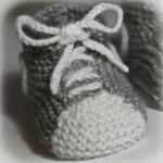 photo tricot patron chausson bébé tricot gratuit 7