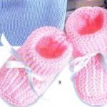 photo tricot patron chausson bébé tricot gratuit 8
