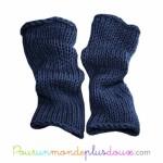 photo tricot patron tricot jambière bébé 15