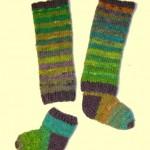 photo tricot patron tricot jambière bébé 16