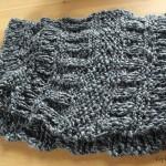 photo tricot patron tricoter écharpe tube 12