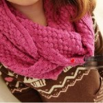 photo tricot patron tricoter écharpe tube 13