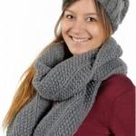 photo tricot patron tricoter écharpe tube 14