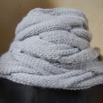 photo tricot patron tricoter écharpe tube