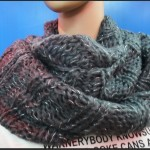 photo tricot patron tricoter écharpe tube 16