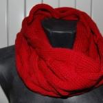 photo tricot patron tricoter écharpe tube 18