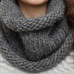 photo tricot patron tricoter écharpe tube 2