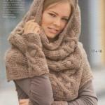 photo tricot patron tricoter écharpe tube 3